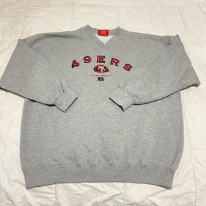 Vintage 49ers V-neck sweatshirt